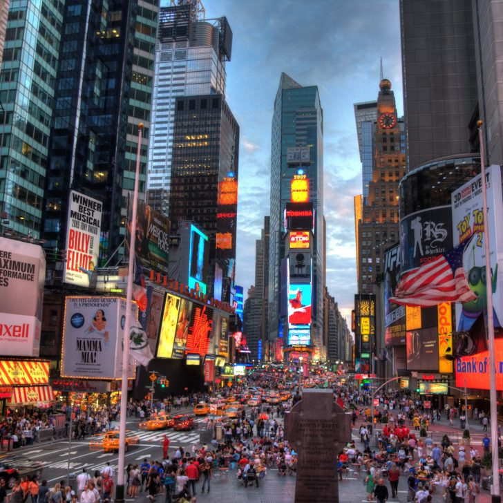 Times Square at Dusk - New York City